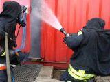 Heissausbildung in der Brandsimulationsanlage in Schneeheide (Heidekreis)
